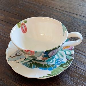 ANTHROPOLOGIE* TEACUP AND SAUCER by Shelley Hesse